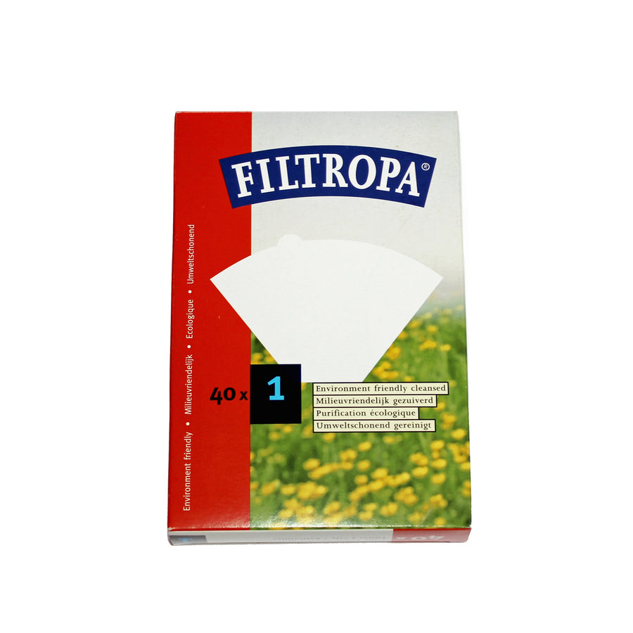 Filtropa White 1 Cup Coffee Paper Filters (40pcs)