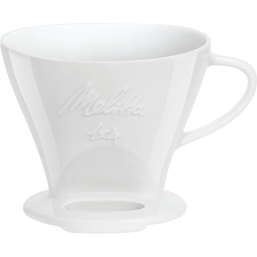 Melitta 1x4 Porcelain Coffee Pour Over (White)