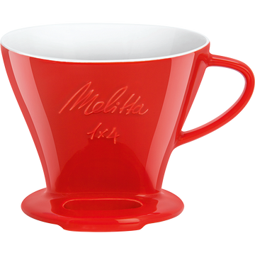 Melitta 1x4 Porcelain Coffee Pour Over (Red)