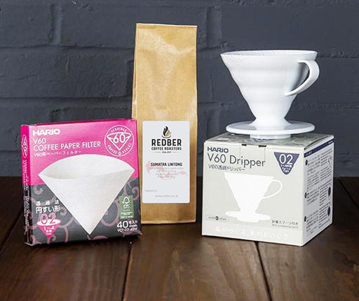 Hario White V60 02 (2 Cups) Coffee Starter Kit