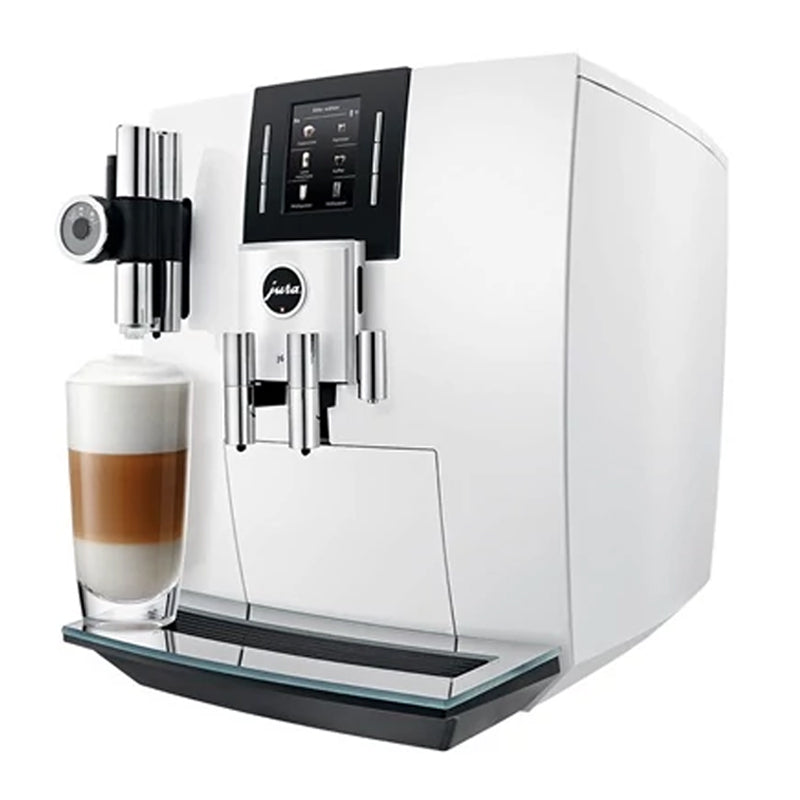 Jura J6 Bean to Cup Coffee Machine - Piano White
