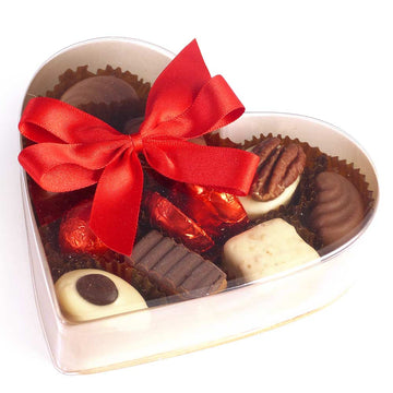 Whitakers Chocolates 10 Assorted Clear Acetate Heart