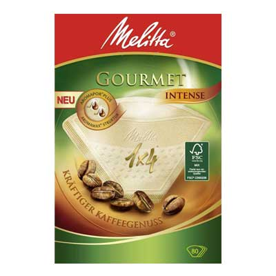 Melitta Gourmet Intense Coffee Paper Filters 1 x 4 (80pcs)