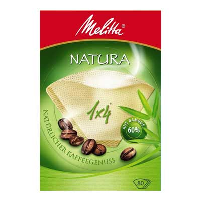 Melitta Natura Coffee Paper Filters 1x4 (80 pcs)