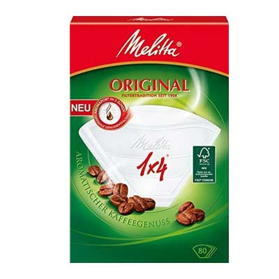 Melitta Original Coffee Paper Filters 1 x 4 (80 pcs)