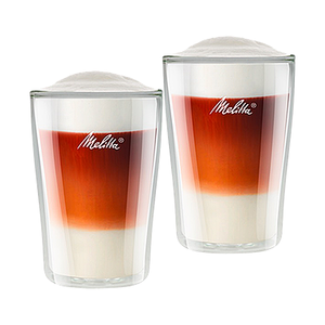 Melitta Latte Macchiato Coffee Glasses Double Walled Set of 2 pcs, 0.30L