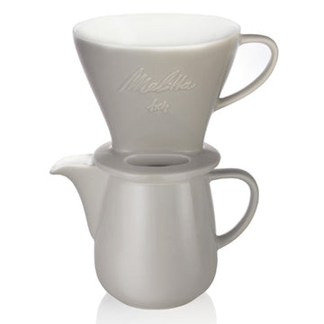 Melitta Porcelain Pour Over Set - Grey