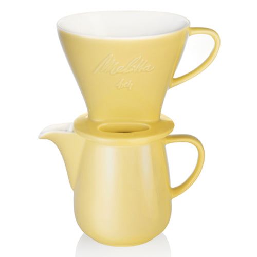 Melitta Porcelain Pour Over Set - Yellow
