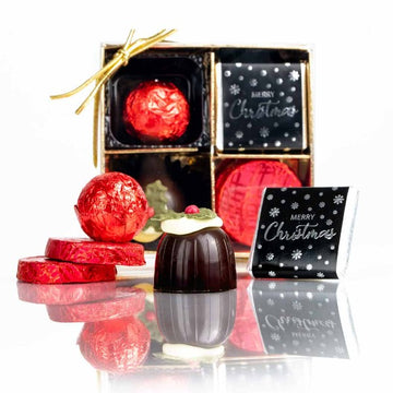 Whitakers Merry Christmas Chocolate Gift Box (9 Chocolates)