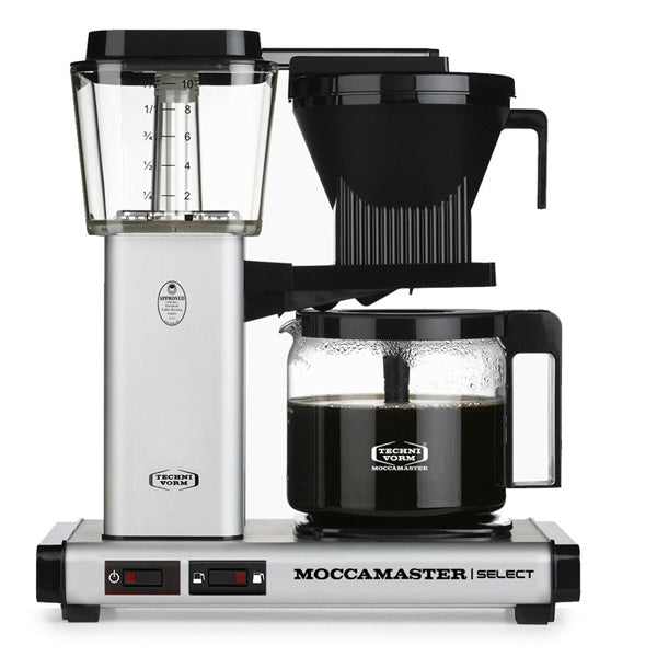 Moccamaster KBG Select Filter Coffee Machine 53813 - Matt Silver