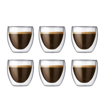 Bodum Pavina 6 pcs glass, double wall, extra small, 0.08 l, 2.5 oz