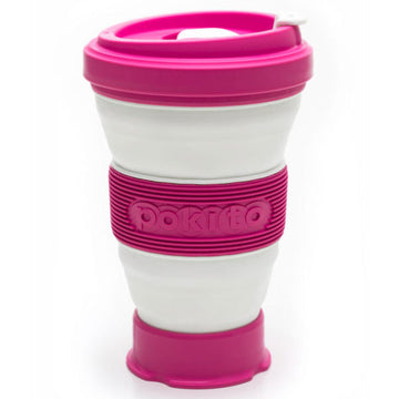 Pokito Collapsible Travel Mug - Raspberry
