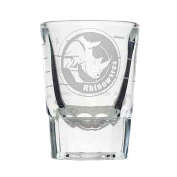 Rhinowares Shot Glass 2oz lined to 2oz.