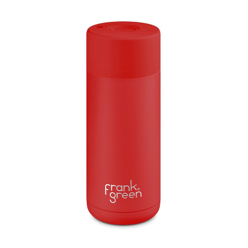 Frank Green 16oz/475ml Ceramic Reusable Cup - Rouge (Limited Edition)