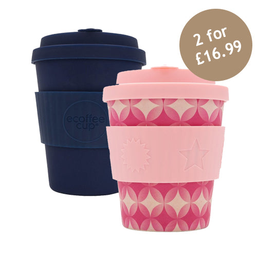Ecoffee Cup Reusable Bamboo Travel Cup 0.25l / 8 oz. - Round in Yurkils BooCup & Dark Energy