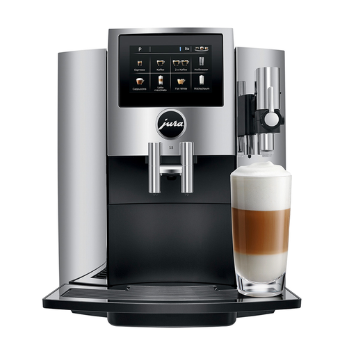 Jura S8 Bean to Cup Coffee Machine - Chrome
