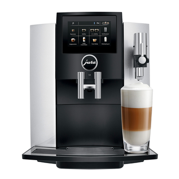 Jura S8 Bean to Cup Coffee Machine - Moonlight Silver
