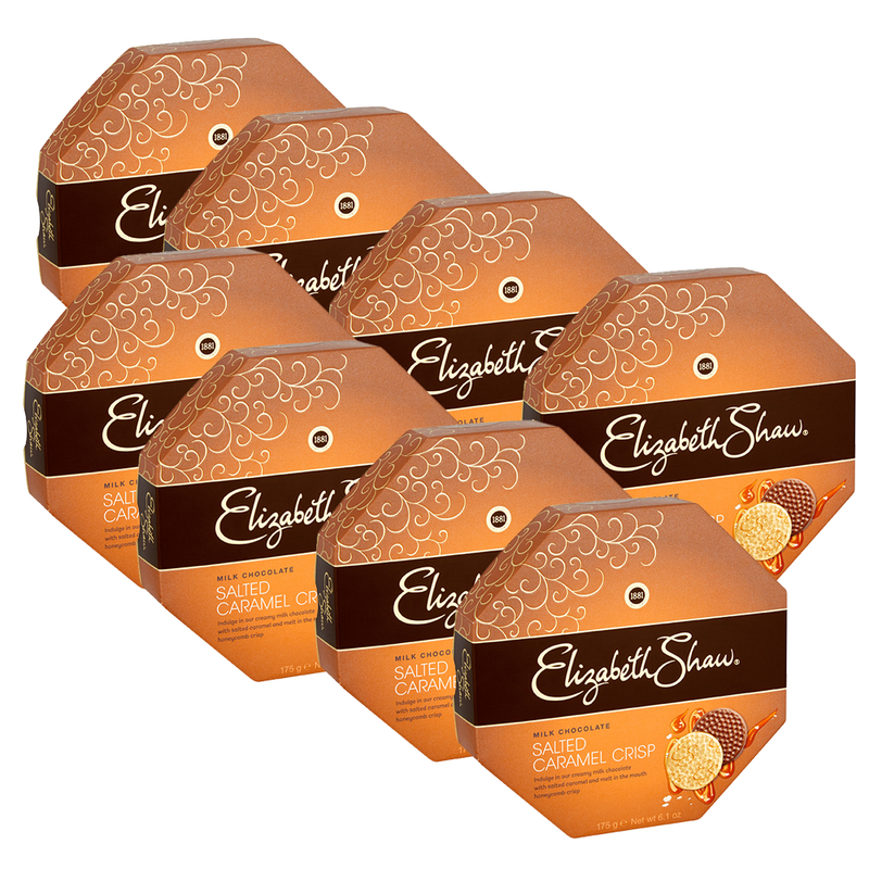 Elizabeth Shaw Salted Caramel Crisp Chocolates - Case of 8