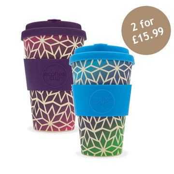Ecoffee Cup Reusable Bamboo Travel Cup 0.4l / 14 oz. - Stargate & Stargrape