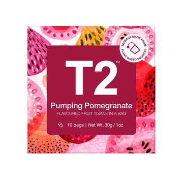 T2 Tea Pumping Pomegranate Teabags - 10 Pack