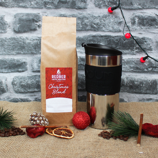Travel Mug and Christmas Coffee Gift Set