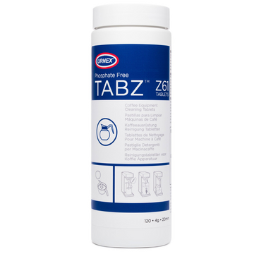 Urnex Tabz Z61 (Phosphate Free ) Coffee Equipment Cleaning Tablets - 120 Tablets