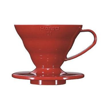 Hario V60 01 (1 Cup) Plastic Coffee Dripper - Red