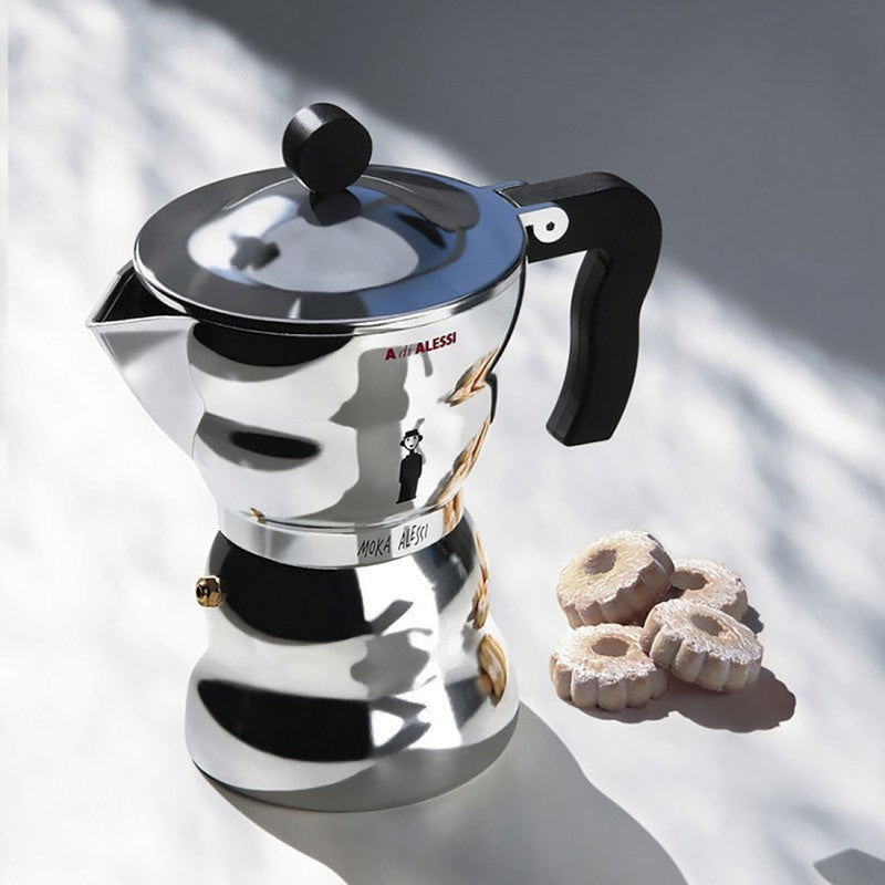 Moka Alessi 3-cup by Alessandro Mendini