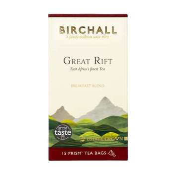 Birchall Tea in Prism Bags 15pcs - Great Rift Breakfast Blend (RFA Certified)