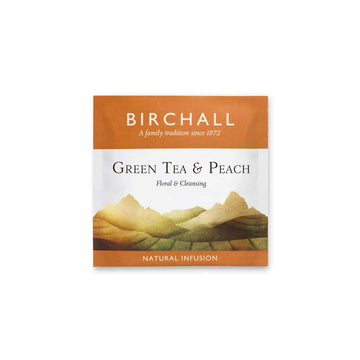 Birchall Tea in Enveloped Prism Bags 200pcs - Green Tea & Peach