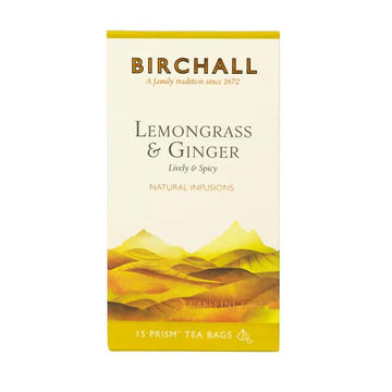 Birchall Tea in Prism Bags 15pcs - Lemongrass & Ginger