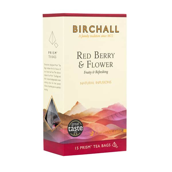 Birchall Tea in Prism Bags 15pcs - Red Berry & Flower