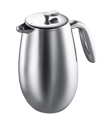 Bodum Columbia 8 cup, 1L Cafetiere - Shiny