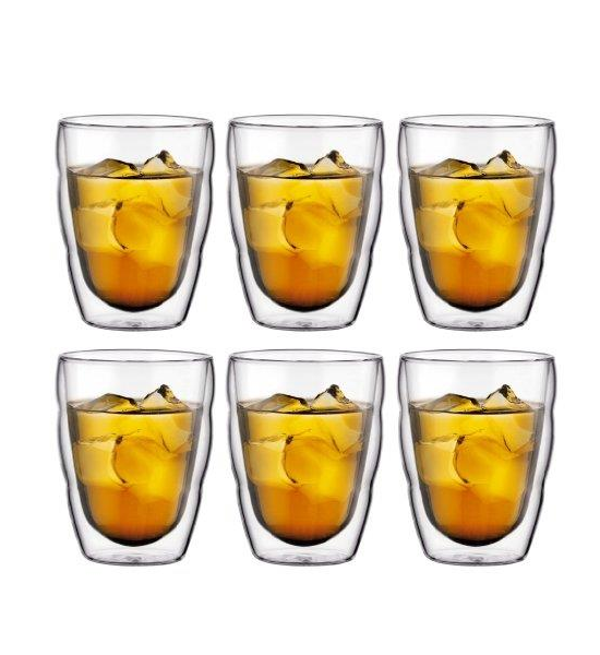 Bodum Pilatus Double Wall Glasses, 0.25L, Set of 6