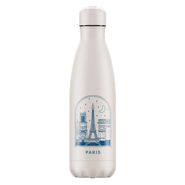 Chilly's Vacuum Insulated Stainless Steel 500ml Drinking Bottle - City Break Paris