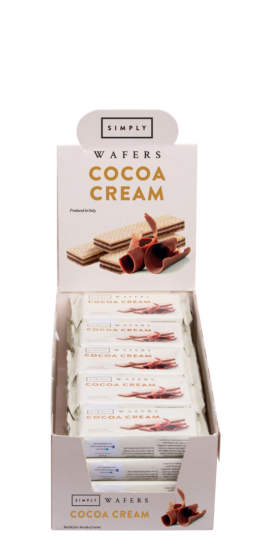 Case of Simply Cocoa Cream Wafers 45g - 20pcs
