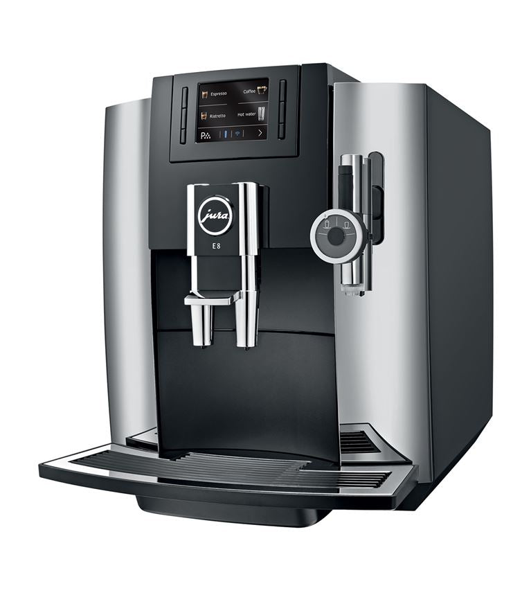 Jura E8 Bean to Cup Coffee Machine - Chrome