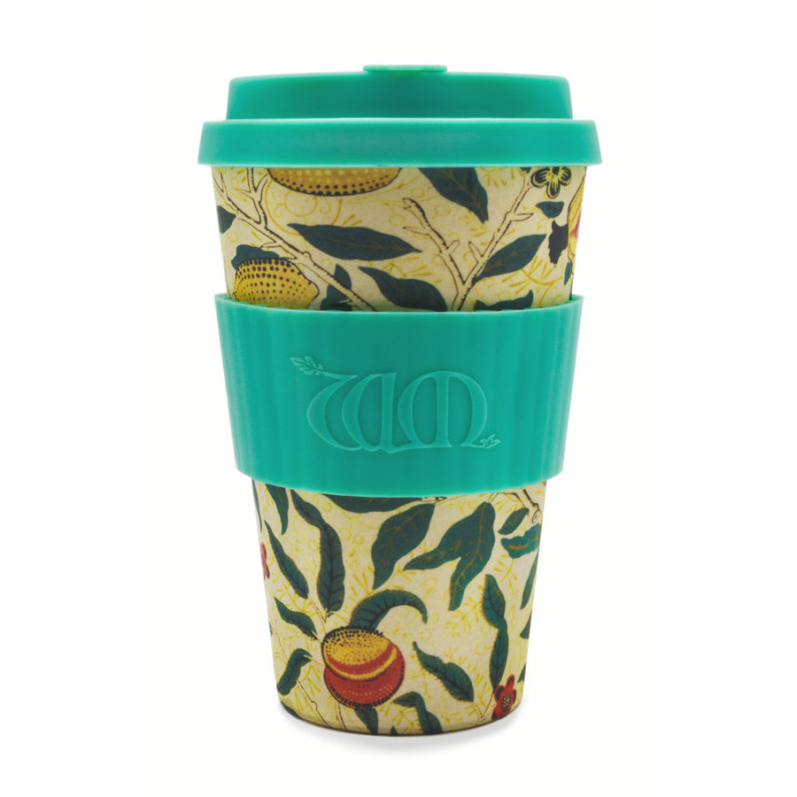 William Morris Ecoffee Cup Reusable Bamboo Travel Cup 0.4l / 14 oz. - Pomme