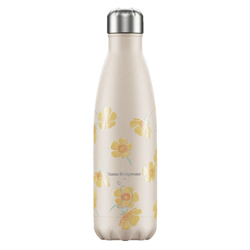 Chilly's Vacuum Insulated Stainless Steel 500ml Drinking Bottle - Emma Bridgewater Buttercup
