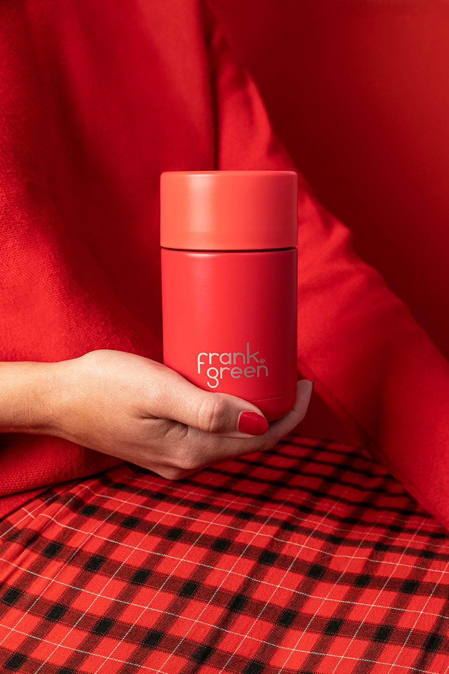 Frank Green 10oz/295ml Ceramic Reusable Cup - Rouge (Limited Edition)