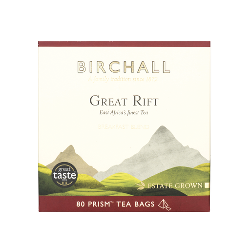 Birchall Tea in Prism Bags 80pcs - Great Rift Breakfast Blend