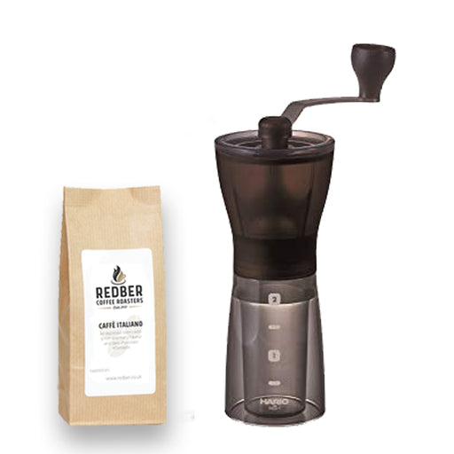 Hario MINI Mill Plus Ceramic Burr Coffee Grinder with Free Coffee