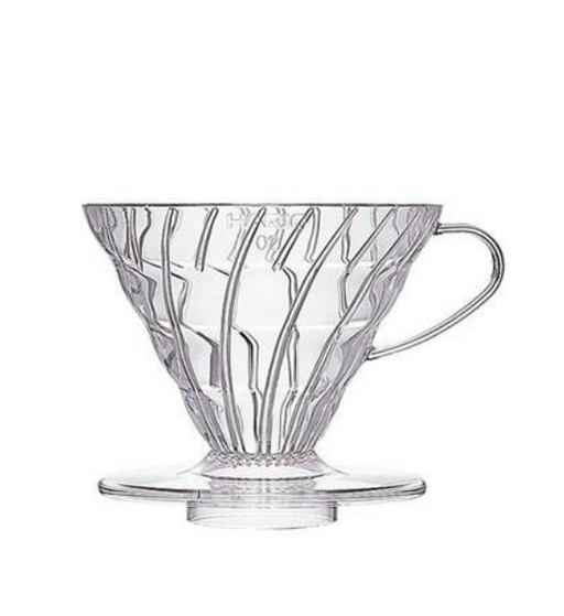Hario V60 01 (1 Cup) Plastic Coffee Dripper - Clear
