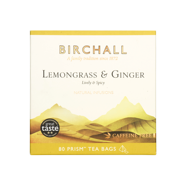 Birchall Tea in Prism Bags 80pcs - Lemongrass & Ginger