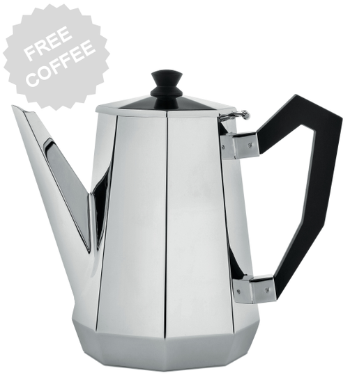 Alessi Ottagonale Coffee Server by Carlo Alessi, 1L