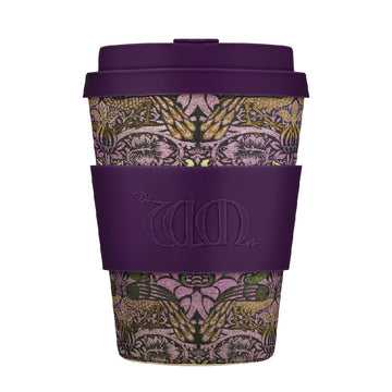 William Morris Ecoffee Cup Reusable Bamboo Travel Cup 0.34l / 12 oz. - Peacock