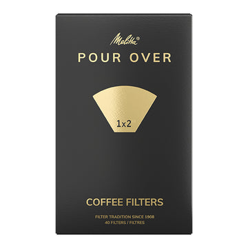 Melitta Pour Over Filter Papers (Size 1x2 - 40 pack)