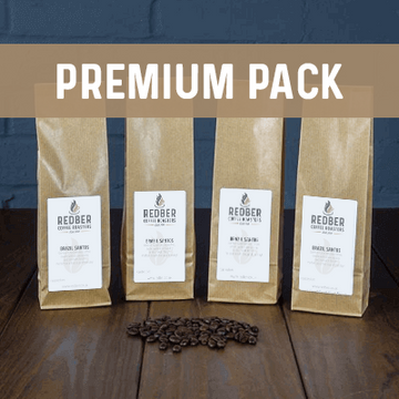 Premium Coffee packs by Redber Coffee