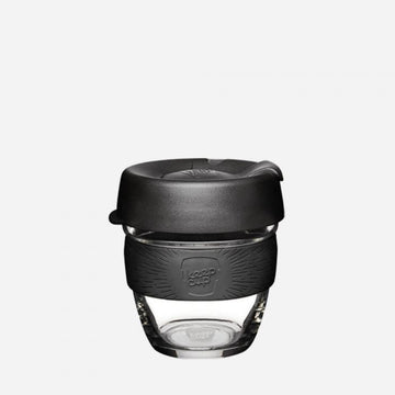 KeepCup Brew Glass Reusable Coffee Cup 8oz - Black