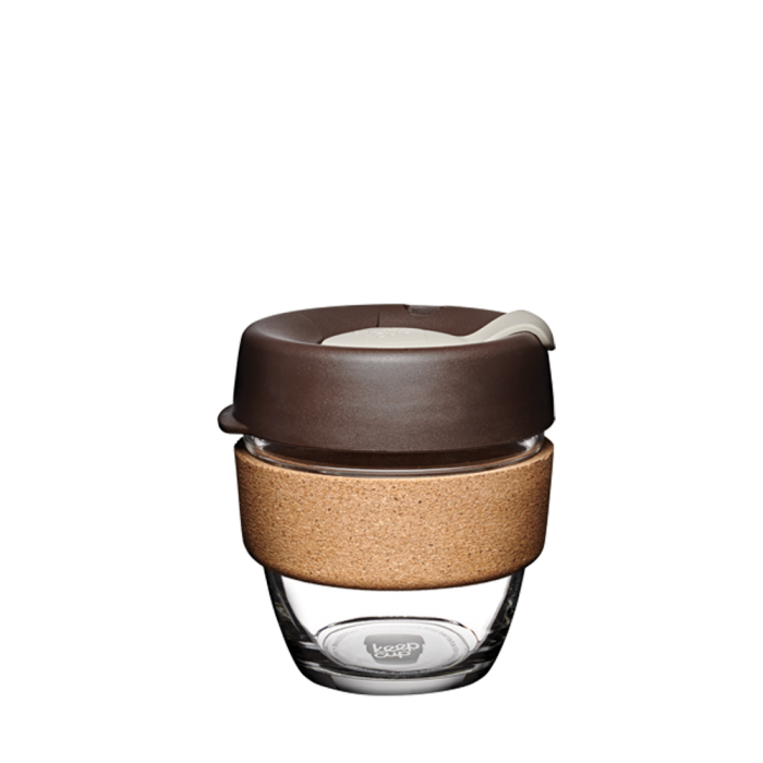 KeepCup Brew Cork Glass Reusable Coffee Cup 8oz - Almond